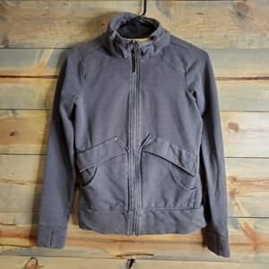 Lole womens light weight zip jacket, grey, sz S
